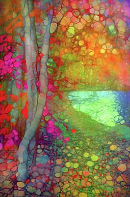 Digital Art - The Creek Waits Patiently For Autumn's Joyful Return by Tara Turner