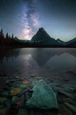 Photograph - The Crown Jewels / Two Medicine Lake, Glacier National Park  by Nicholas Parker