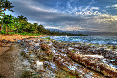 Photograph - The Curve North Shore Lava Rocks Oahu Hawaii Collection Art  by Reid Callaway