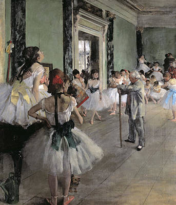 Painting - The Dance Class By Edgar Degas, Oil On by Peter Willi