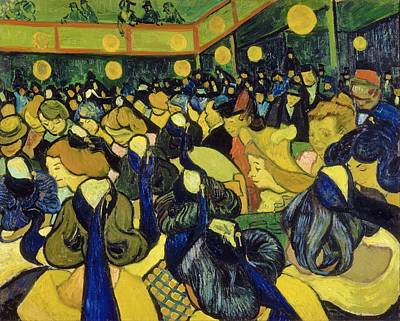 Faces In The Crowd Wall Art - Painting - The Dance Hall In Arles - Digital Remastered Edition by Vincent van Gogh