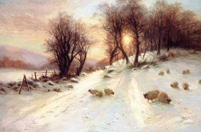 Joseph Farquharson Wall Art - Painting - The Day Was Sloping Towards His Western Bower 1912 by Farquharson Joseph