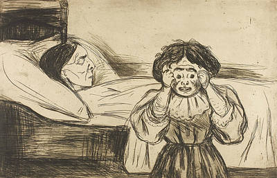 Relief - The Dead Mother And Her Child by Edvard Munch
