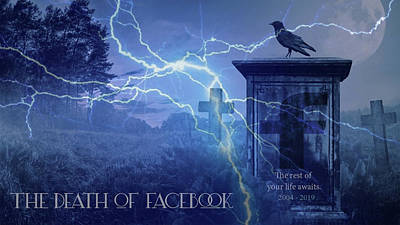 Photograph - The Death Of Facebook  by Doc Braham