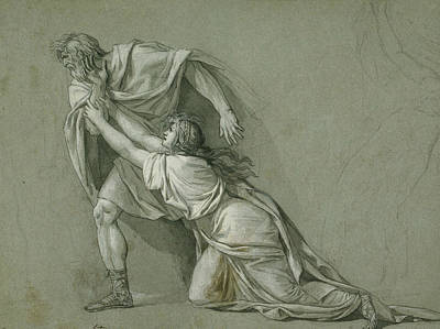 Drawing - The Departure Of Marcus Attilius Regulus For Carthage by Jacques-Louis David