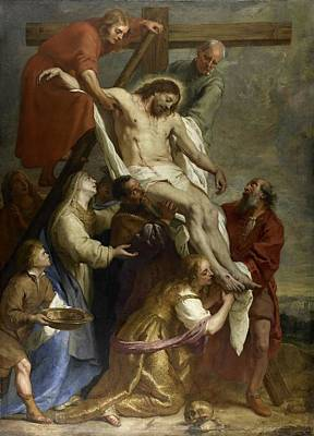 Painting - The Descent From The Cross by Gaspar de Crayer