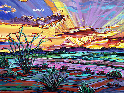 Painting - The Desert Blushes As The Sun Shows It's Face by Alexandria Winslow
