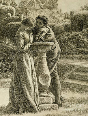 Drawing - The Dial, 19th Century by Arthur Hughes