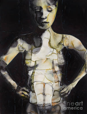 Painting - The Dirty Yellow Series Inside Figure  by Graham Dean
