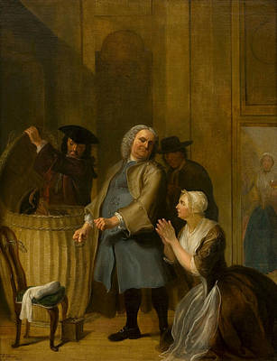 Painting - The Discovered Apparent Virtue by Cornelis Troost
