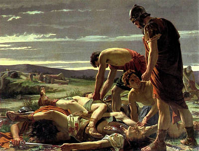 Painting - The Discovery Of The Body Of Catilline by Alcide Segoni