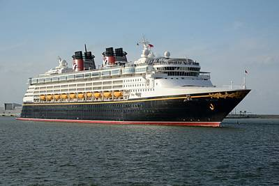Photograph - The Disney Wonder Departs by Bradford Martin
