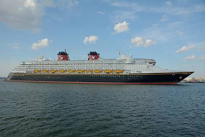 Photograph - The Disney Wonder Underway by Bradford Martin