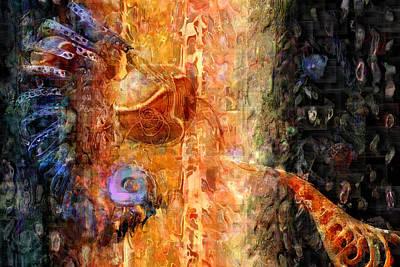 Abenaki Wall Art - Digital Art - The Dna Retro Complex by Carmen Hathaway