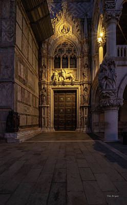 Photograph - The Doge's Door. by Tim Bryan