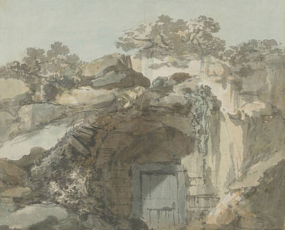 Drawing - The Door Of A Grotto by William Marlow