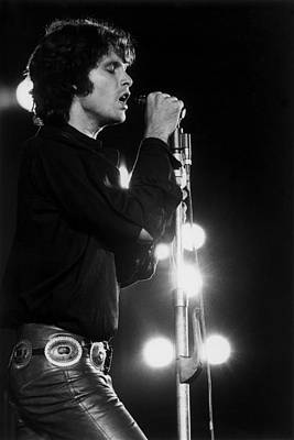 Music Photograph - The Doors Play The Bowl by Ed Caraeff/morgan Media