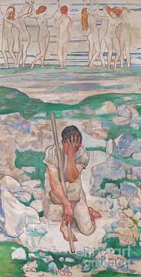 Painting - The Dream Of The Shepherd, 1896  by Ferdinand Hodler