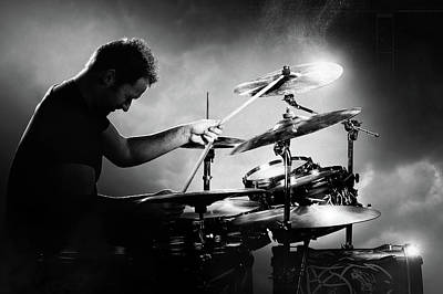 Musicians Photos - The Drummer by Johan Swanepoel