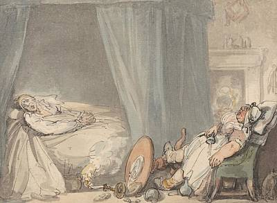 Drawing - The Drunken Nurse by Thomas Rowlandson