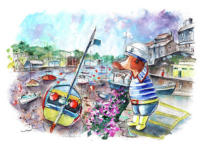 Painting - The Ducks Of Mevagissey 01 by Miki De Goodaboom