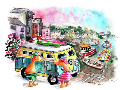 Painting - The Ducks Of Mevagissey 02 by Miki De Goodaboom