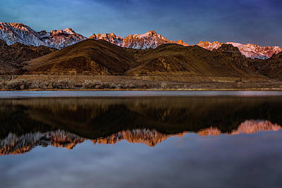 Photograph - The Eastern Sierra At Sunrise by PhotoWorks By Don Hoekwater