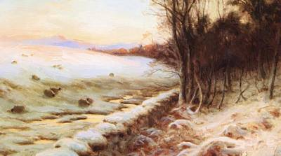 Joseph Farquharson Wall Art - Painting - The Edge Of The Wood by Farquharson Joseph