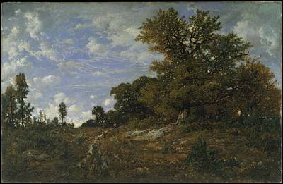 Purely Purple - The Edge of the Woods at Monts Girard Fontainebleau Forest 1852 54 by Theodore Rousseau