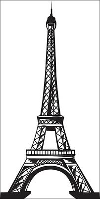 Digital Art - The Eiffel Tower by Stanley Mathis