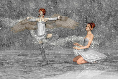 Surrealism Digital Art - The Enchantment of Dance by Betsy Knapp