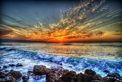 Photograph - The End Sunset North Shore Oahu Hawaiian Art by Reid Callaway