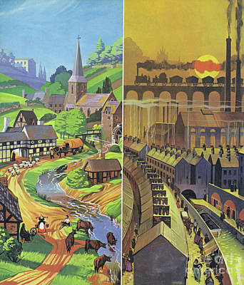 Painting - The English Industrial Revolution, And Change To The Landscape by Angus McBride