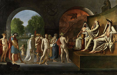 Hera Painting - The Exhortation Of The Gods by French painter