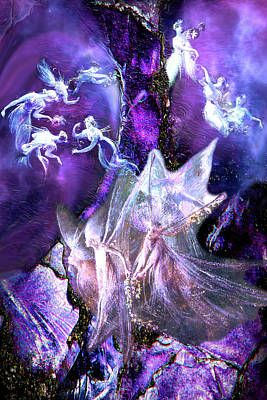 Digital Art - The Fairies' Tree by Lisa Yount