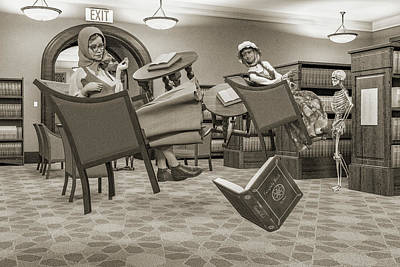 Surrealism Digital Art - The Fairytale Book by Betsy Knapp