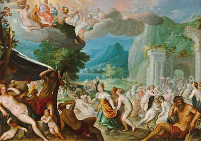 Painting - The Fall Of Phaeton by Hans Rottenhammer