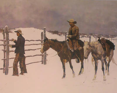Animals Digital Art - The Fall Of The Cowboy by Frederic Remington