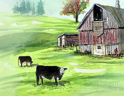 Painting - The Farmer In The Dalles by Tim Ross
