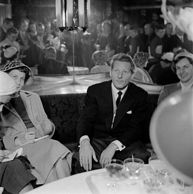 Painting - The Film Star Is Pictured By Journalists At A Press Conference. Helsinki 3 10 1955  by Celestial Images