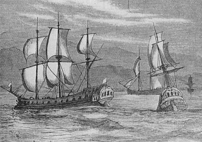 The First Fleet Art Print by Hulton Archive