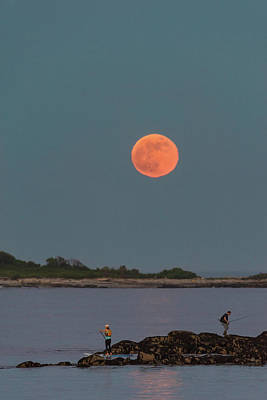 Photograph - The Fisherman And The Full Moon by Jesse MacDonald