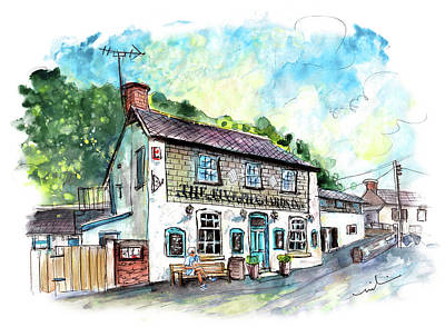Painting - The Five Pilchards Inn In Porthallow by Miki De Goodaboom
