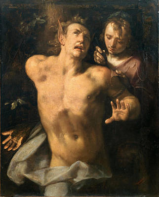 Painting - The Flaying Of Marsyas by Cornelis Cornelisz van Haarlem