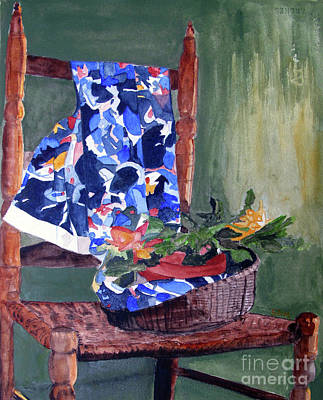 Painting - The Flower Basket by Sandy McIntire