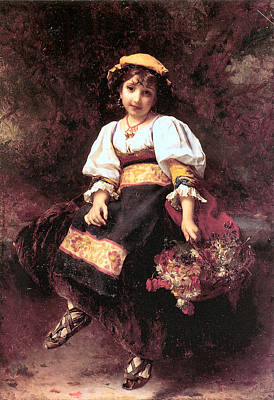 Painting - The Flower Seller by Etienne Adolphe Piot