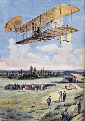 People Digital Art - The Flying Men, Wilbur Wright 1867-1912 by Leemage
