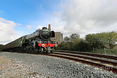 Photograph - The Flying Scotsman In Cornwall by Terri Waters