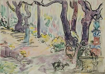Anne Geddes Florals - The Fontain at Saint-Tropez by Henri Lebasque
