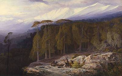 Painting - The Forest Of Valdoniello, Corsica Edward Lear by Celestial Images